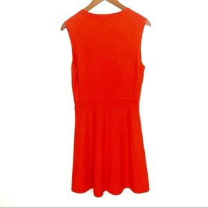 Theory Dresses - Theory | Coral Red Wool Blend Dress Womens Sz L